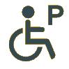Icon Behindertenparkplatz