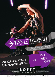 One Week Stand beim Tanztausch Festival 2014 Plakat