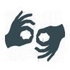 Symbol für Gebärdensprache.