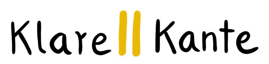 Schriftzug Klare || Kante